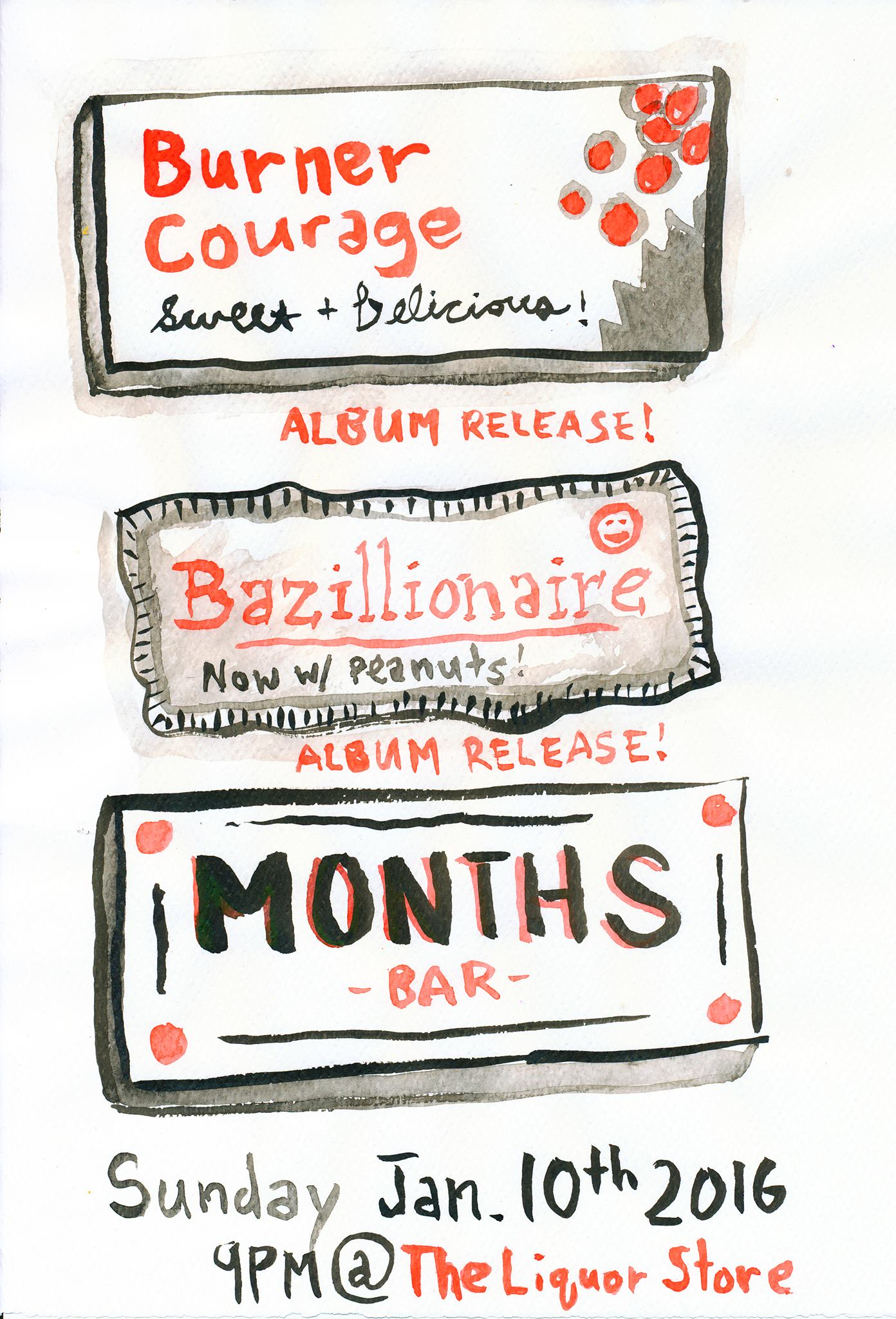 months w. burner courage & bazillionaire