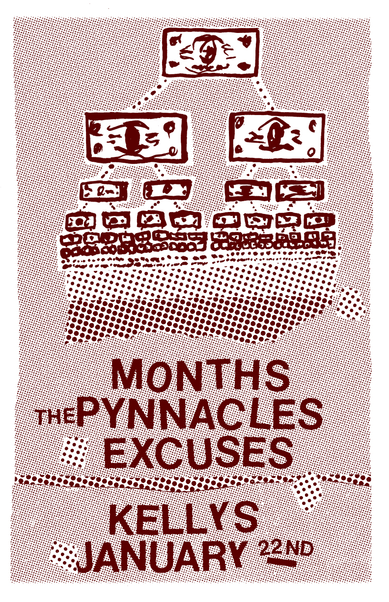 months plays kelly's olympian friday jan 22 2016 with the pynnacles and excuses