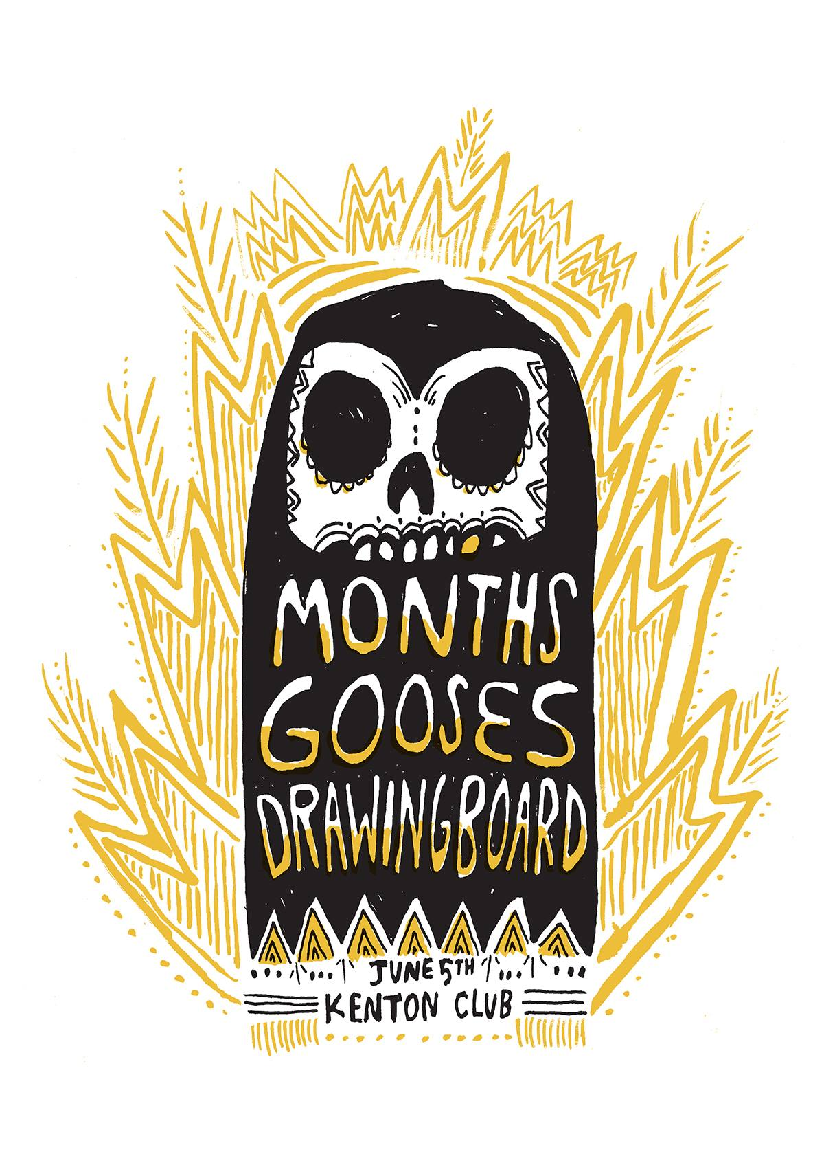 months with gooses and drawingboard at world famous kenton club on june 5 2014.