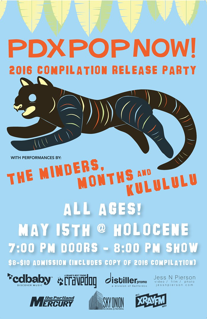 months with the minders and kulululu at holocene for the pdx pop now compilation release party may 15 2016. all ages.