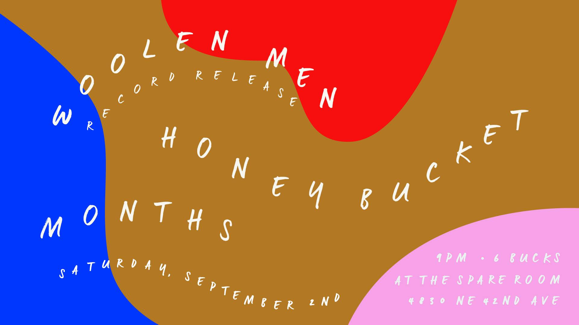 months opens woolen men's record release show along with honey bucket