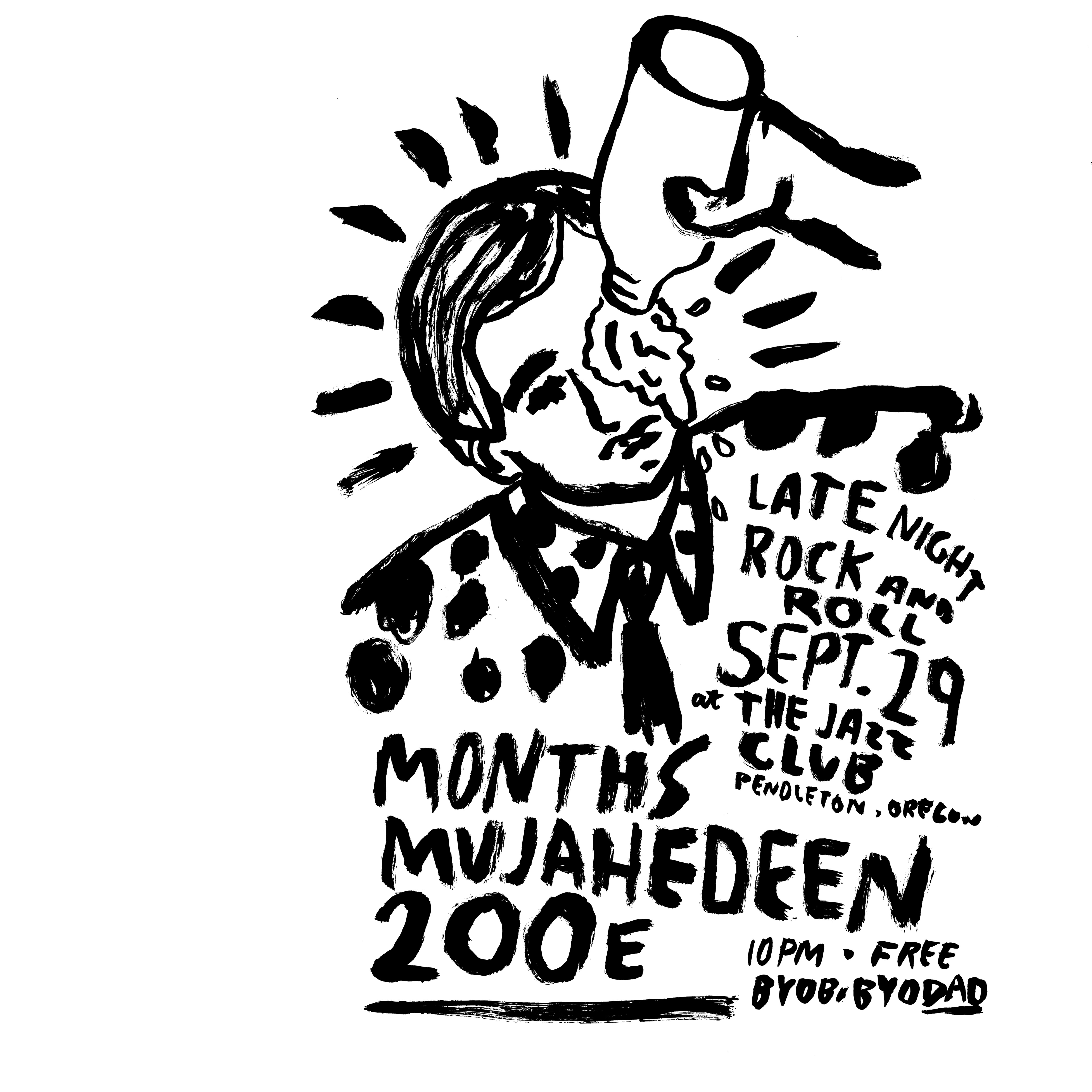 months plays the jazz club in pendleton on friday september 29 with mujahedeen and 200e