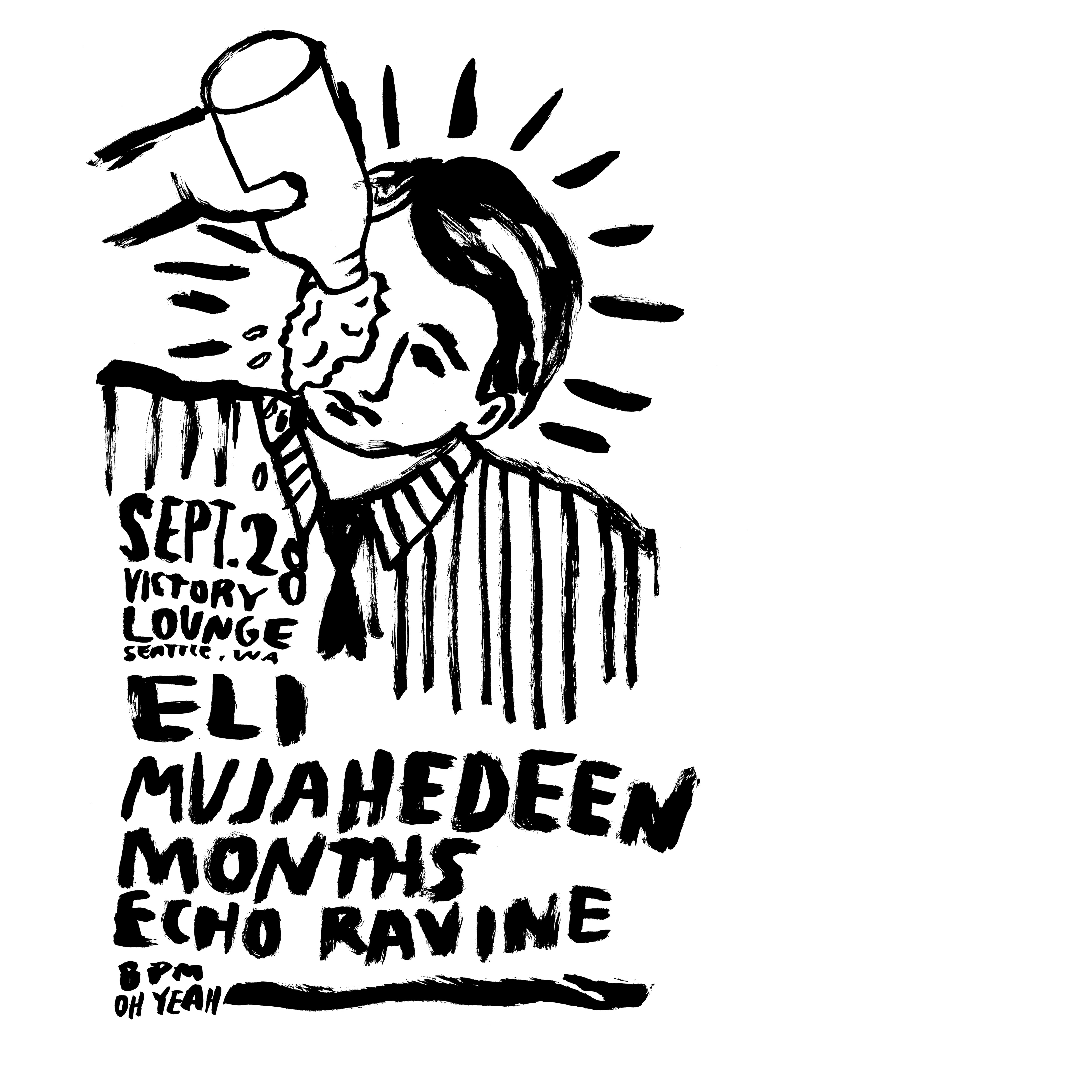 months at victory lounge in seattle on thursday september 28 with echo ravine, mujahedeen, and eli